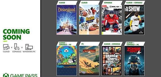 Xbox 게임패스, GTA 5부터 '더 쇼 21'까지